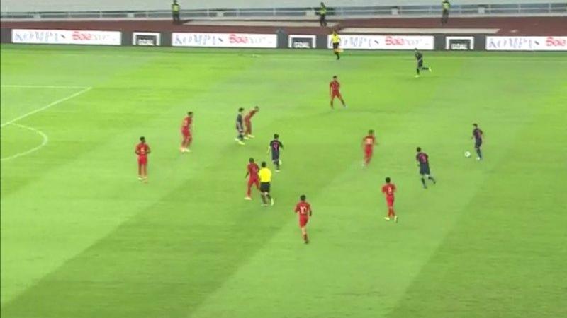 หมดเวลาการแข่งขัน! ทีมชาติอินโดนีเซีย 0-3 ทีมชาติไทย