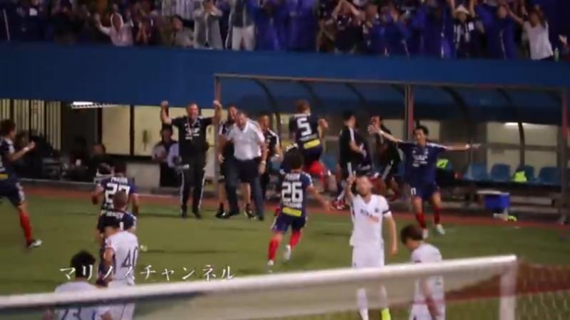 """แฟนบอลญี่ปุ่นอัพคลิป ช๊อตนักเตะไทย """"ธีราทร"""" ยิงประตูใส่ซานเฟรซเซ่ หลังจากนั้นแฟนบอลว่าไงไปฟัง!!!"""