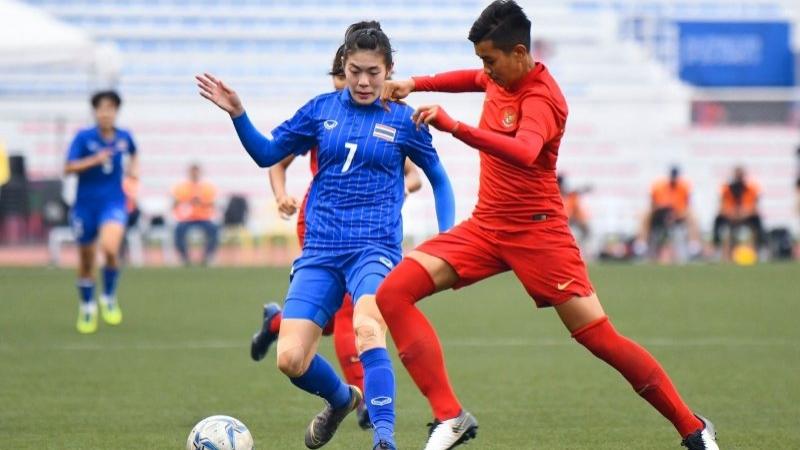หมดเวลาการแข่งขัน! ฟุตบอลหญิงทีมชาติไทย 5-1 ทีมชาติอินโดนิเซีย