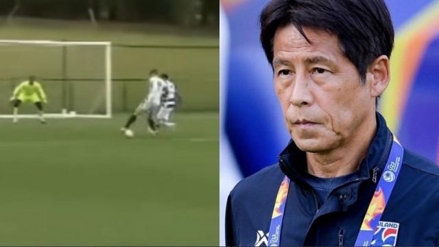 """แข้งเป้าหมาย """"นิชิโนะ"""" พัง 2 ประตูที่อังกฤษ พาทีมพลิกชนะคู่แข่งท้ายเกม"""