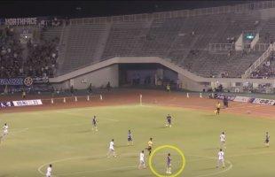 """มาดู!! ปฏิกิริยาแฟนบอลญี่ปุ่นที่ขอบสนามฮิโรชิม่าที่มีต่อศูนย์หน้าของไทย """"ธีรศิลป์ แดงดา"""" หลังจากทำประตูได้"""