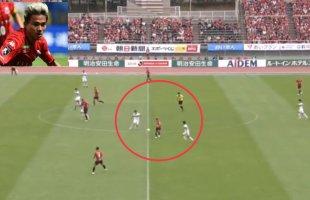 """ชมช๊อต 2 แนวรับทีมดังญี่ปุ่น ดวลกับจังหวะกับ """"ชนาธิป"""" ทำเอาแฟนบอลฮือฮาทั้งสนาม!!!"""
